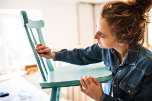 Woman-Sanding-Chair