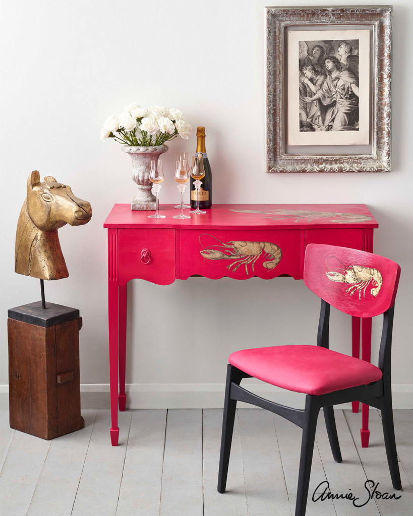 Hollywood-Regency-Capri-Pink-Lobster-Desk-1
