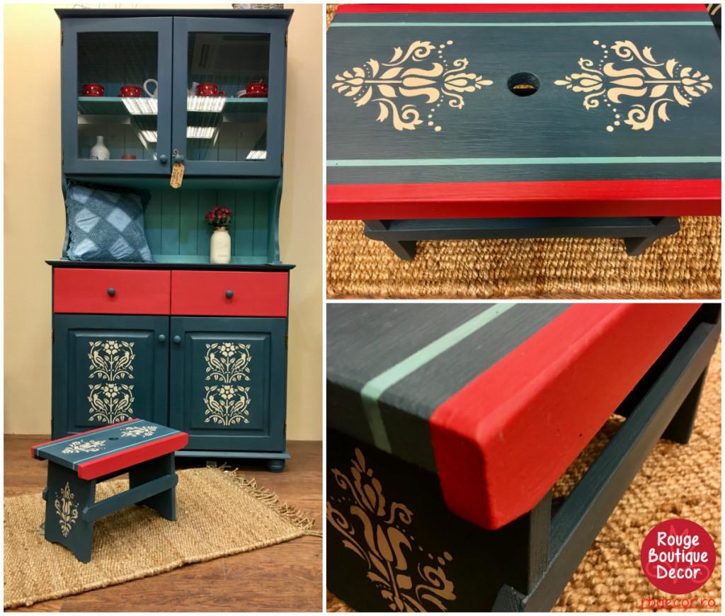 Aubusson szekrény + kisszék